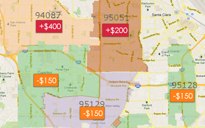Set Car Prices by Zip Code