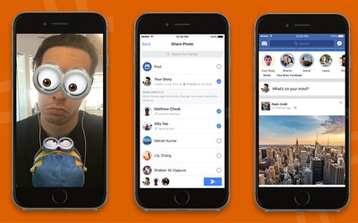 Facebook Upgrades Camera and Introduces Stories