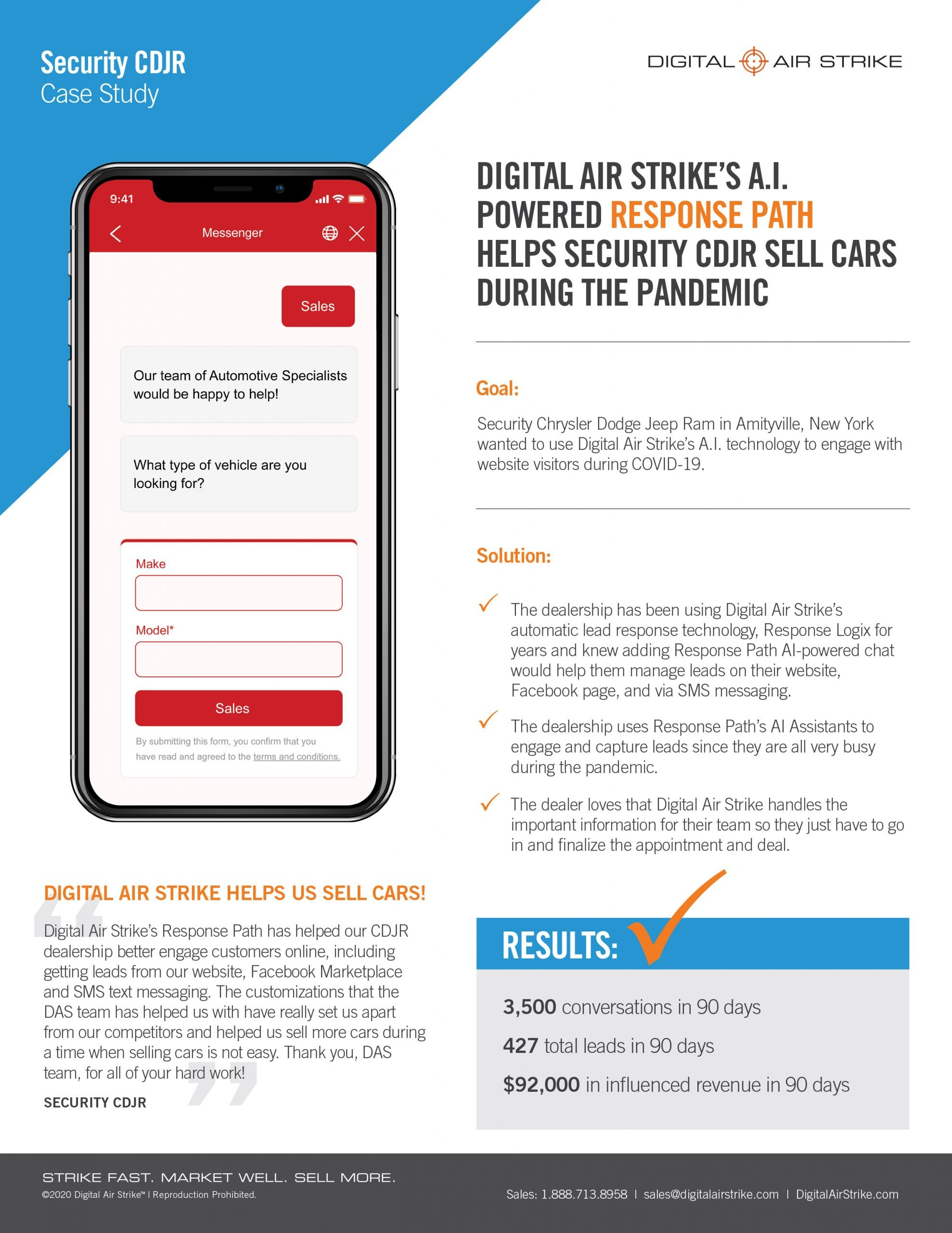 AI Powered Sales Chatbot Gets Results for Dealership During COVID-19 – Digital Air Strike