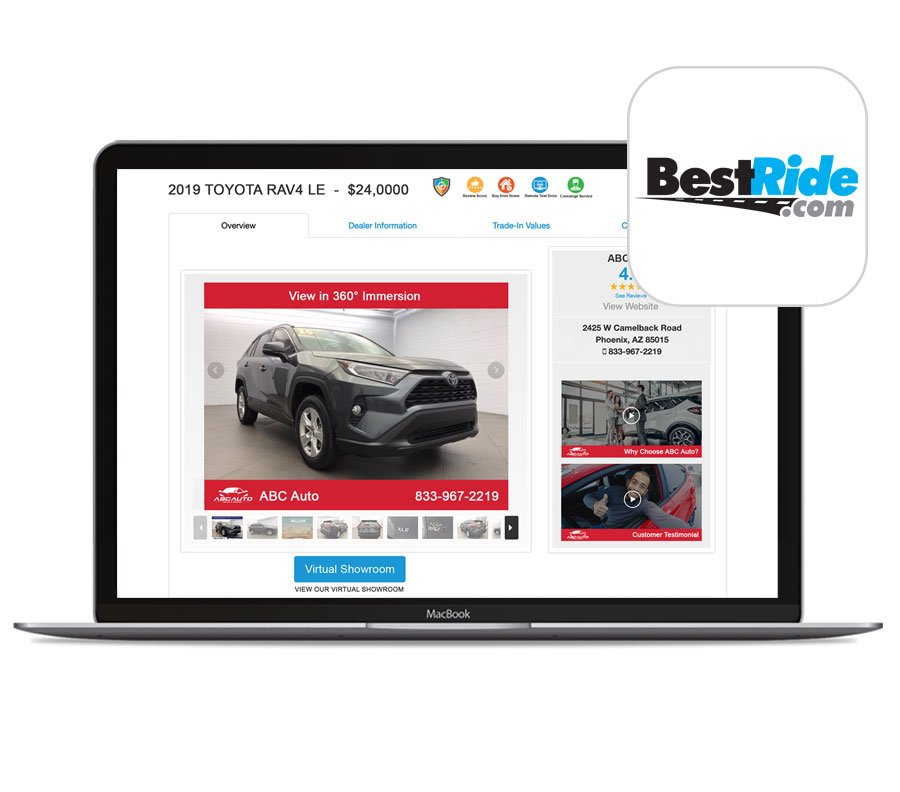 Vehicles Shine with Your BestRide Digital Showroom